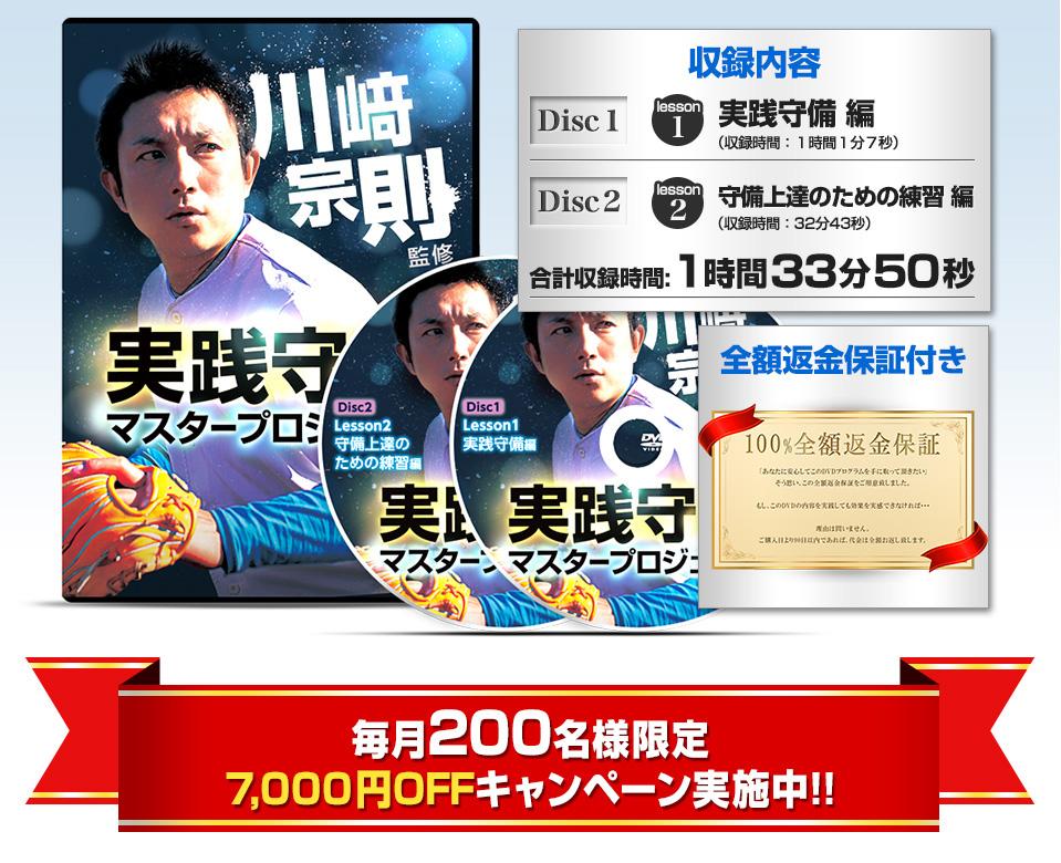 川崎宗則監修『実践守備マスタープロジェクト』DVDのジャケットイメージ